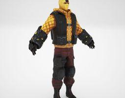 3D model Shock man