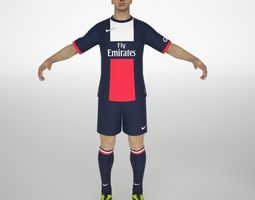 3D asset Zlatan Ibrahimovic rigged