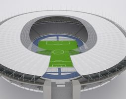 Olympic berlin Stadium HQ 3D model