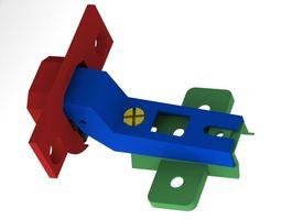 3D Door Concealed Hinge 100 Degree Open