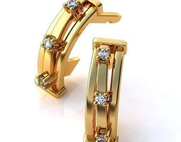 earrings shell 3d print model