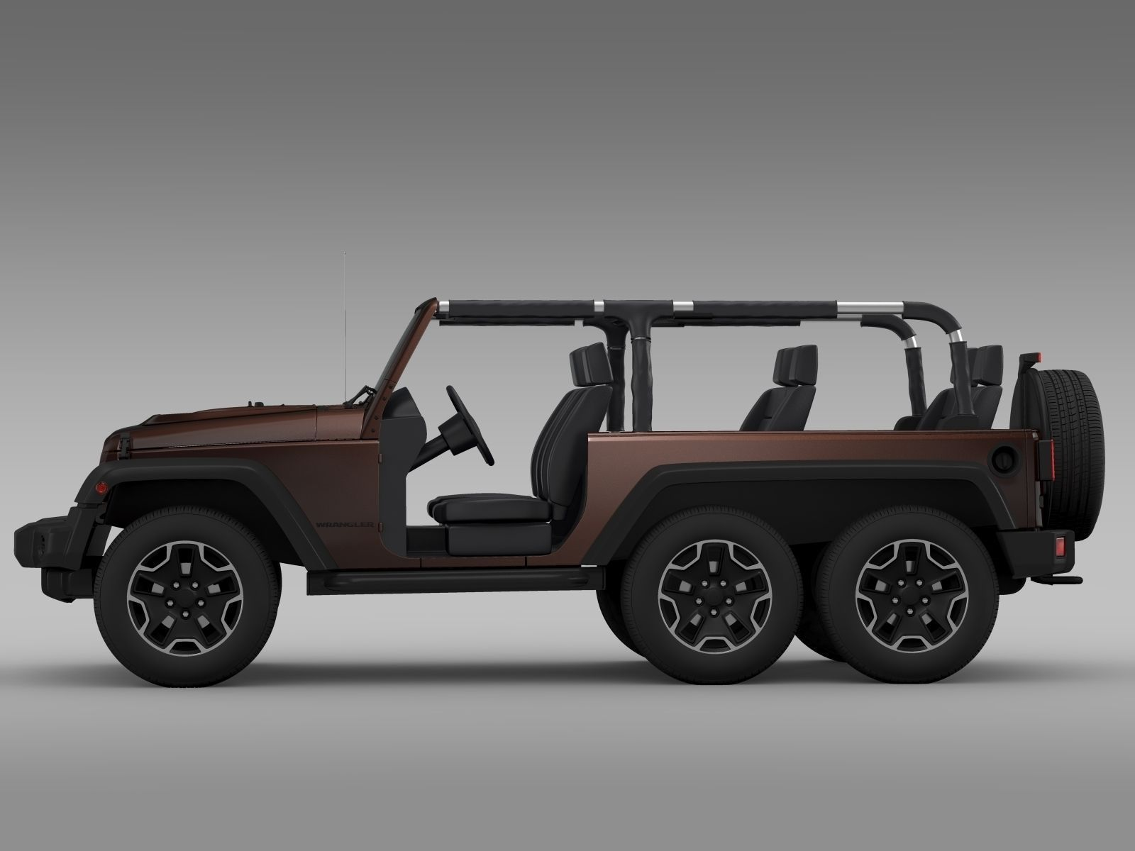 Jeep Wrangler Rubicon 6x6 2016 3d Model Cgtrader