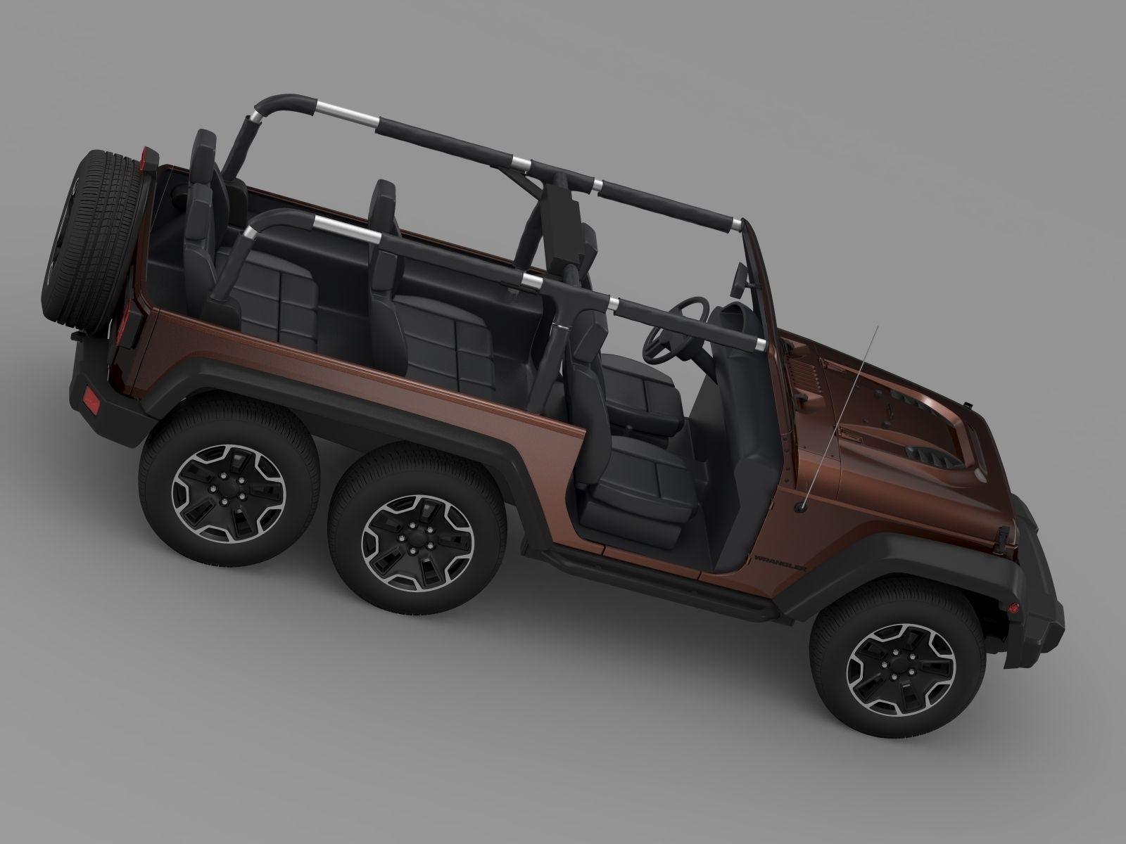 Jeep Wrangler Rubicon 6x6 2016 3d Model Cgtrader 2005 Fuel Filter Max Obj Mtl 3ds Fbx C4d Lwo Lw Lws