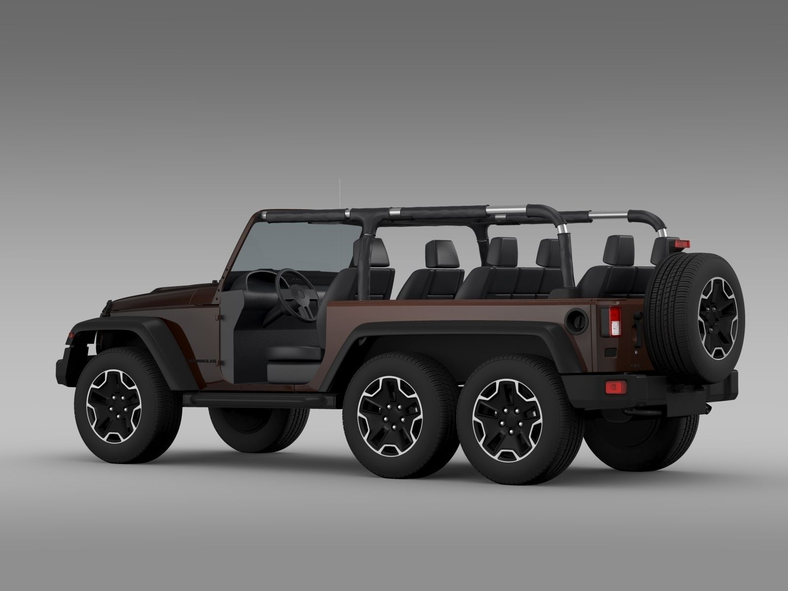 jeep wrangler rubicon 6x6 2016 3d model max obj 3ds fbx c4d lwo lw lws. Black Bedroom Furniture Sets. Home Design Ideas