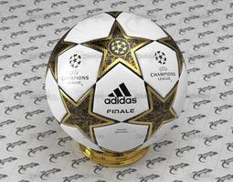 champions league ball 3d model
