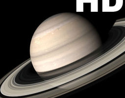 animated Incredible HD Saturn planet - 3d model saturn