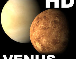 Incredible HD Venus planet - 3d model