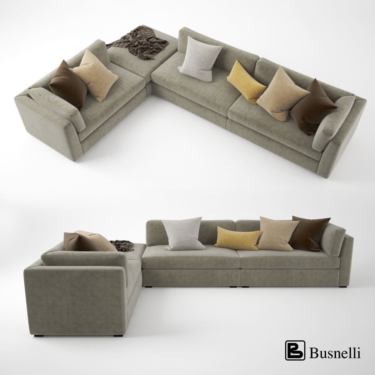 Busnelli Oh-mar Corner Sectional Sofa | 3D model