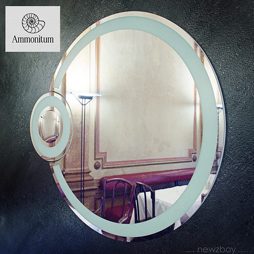round bathroom mirror with light eclipse 3d model max obj mtl fbx 1