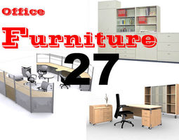 3D 27 Classic Office Furniture Collection