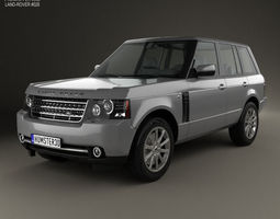 land rover range rover supercharged 2009 3d model