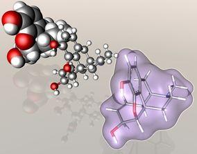 Morphine molecule 3D model