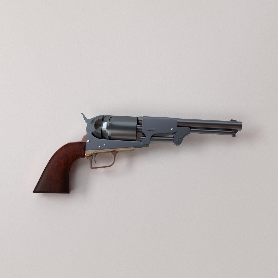 Colt Dragoon 1848   3D model