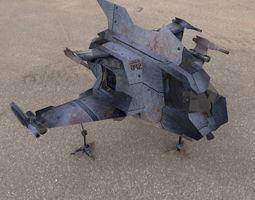 3d model hawk mach shuttle rigged