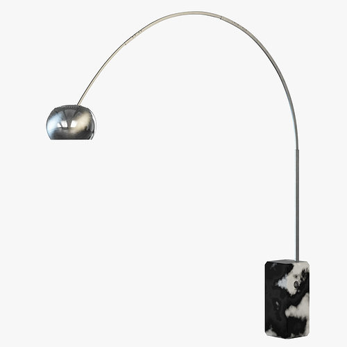 floor lamp flos arco 3d model max obj fbx mtl 3