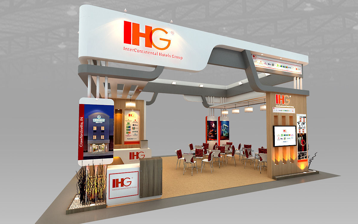 3d Exhibition Booth Design : Ihg hotel booth design d model max ds cgtrader