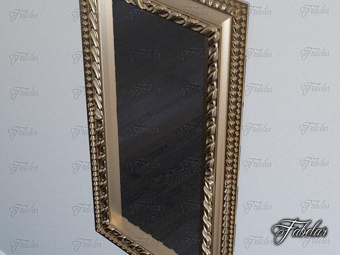 Mirror 01 3d model max obj 3ds fbx c4d dae for Mirror 3d model