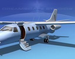 dreamscape at-48 jet executive bare metal animated 3d