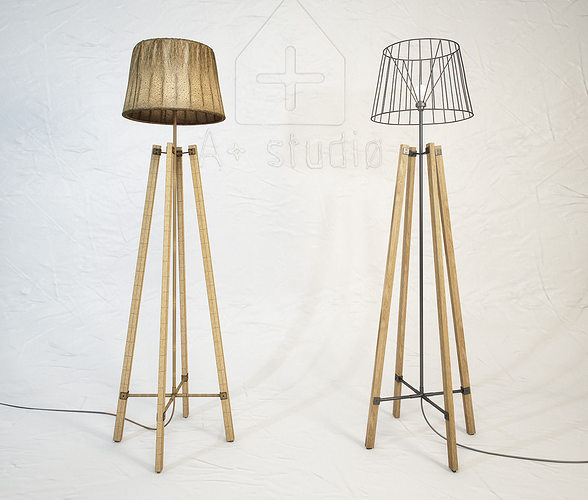 3d model wood wire floor lamp cgtrader rh cgtrader com wiring old floor lamp how to wire a floor lamp uk