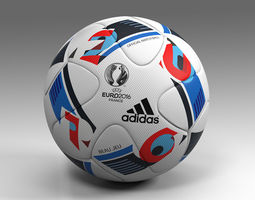 3d asset low-poly euro 2016 adidas beau jeu official ball uefa