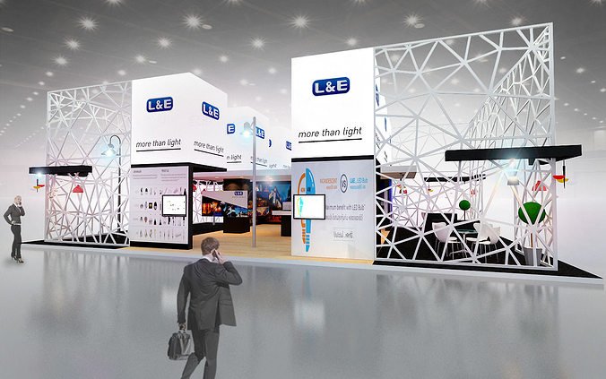 Exhibition Booth Obj : D max model exhibitions design lighting ds