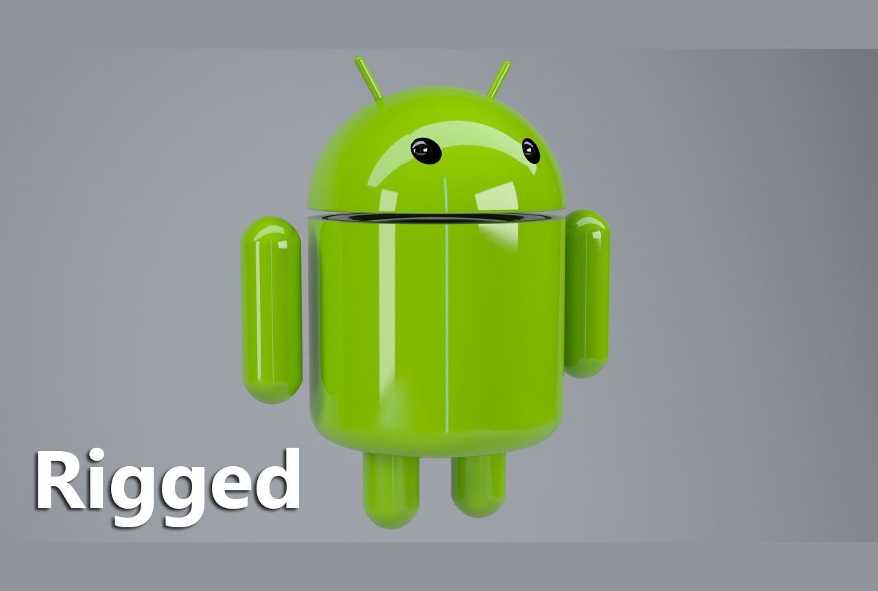 Android logo rigged 3D Model rigged MAX OBJ MTL | CGTrader.com