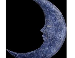 Moon satellite 3D model
