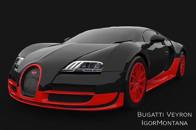 Bugatti Veyron Super Sport 3d Asset Cgtrader