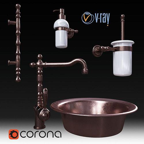 set migliore and faucet fiore 3d model max obj mtl fbx 1