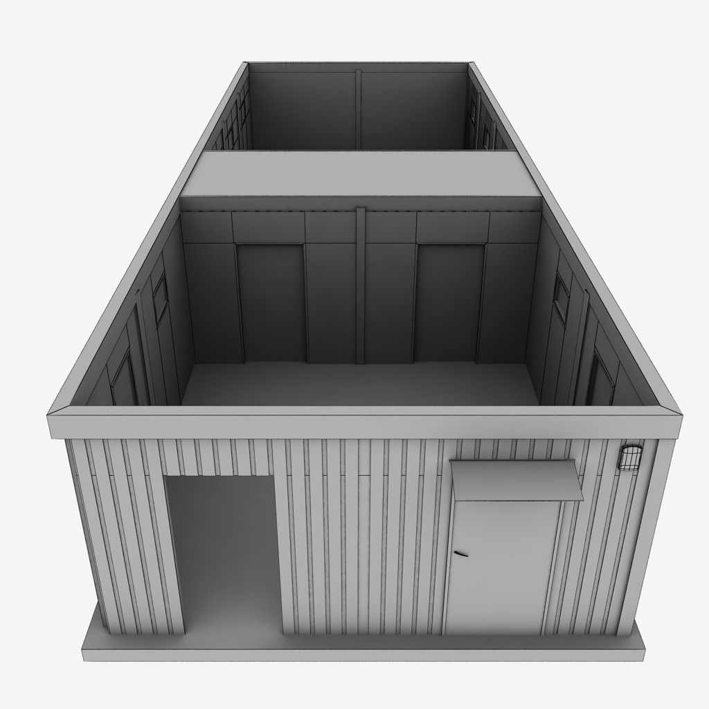 Shipping Furniture Model Container Double Shipping House 3D  Cgtrader