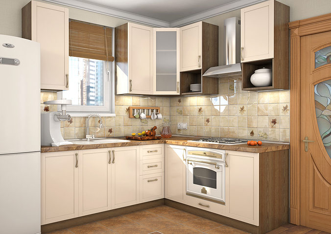 kitchen milano 3d model max 1