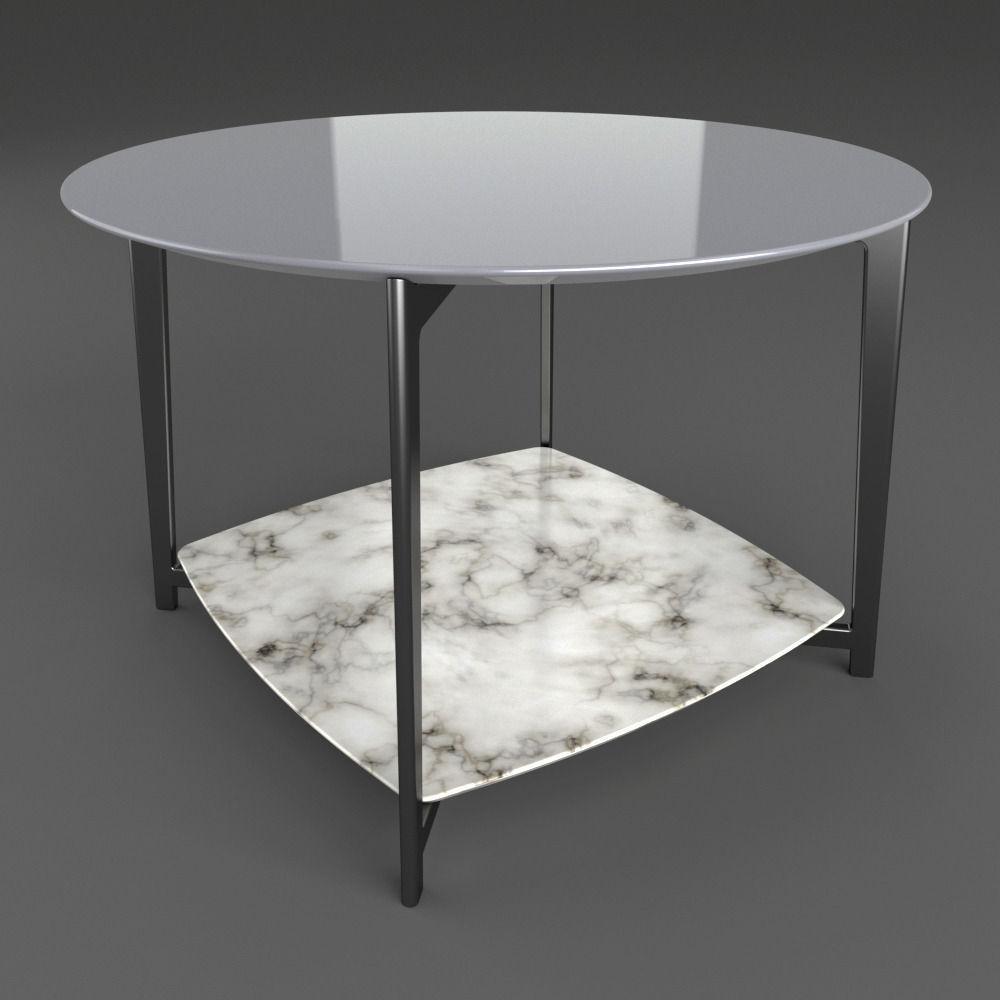 Flexform Double Table 3d Model Max Obj Mtl Fbx Dxf 3dm Dwg 2