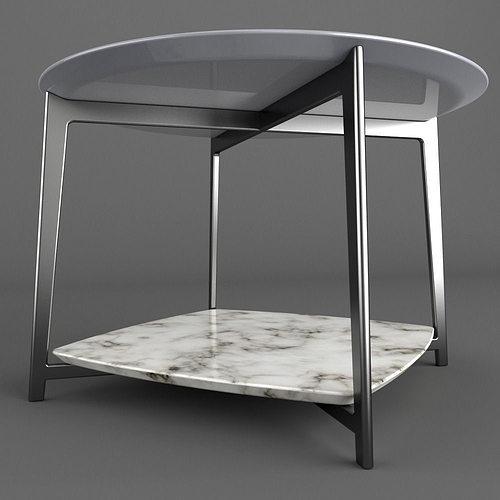 Flexform Double Table 3d Model