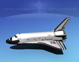 3d model sts shuttle atlantis basic lp 1-1 rigged