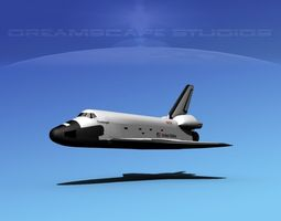 3d rigged space shuttle challenger basic lp 1-1