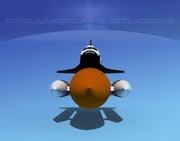 STS Shuttle Challenger Basic Shuttle LP Launch 1-4 3D Model