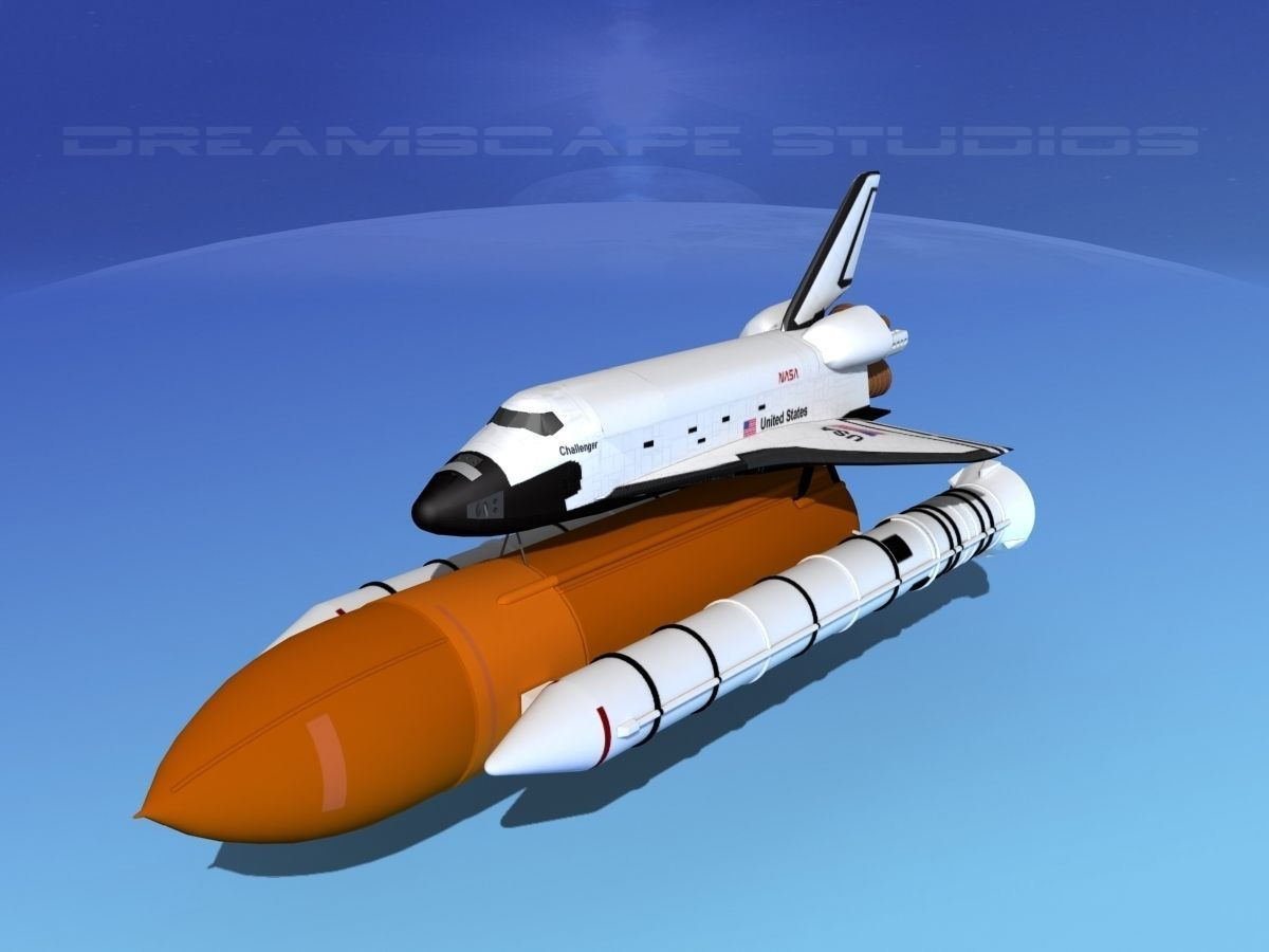 Space Shuttle Challenger Launch MP 2-1 3D Model rigged MAX ...