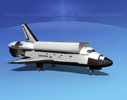 3d model sts shuttle columbia landing mp 2-3   rigged