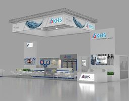 KHS 3d max booth design