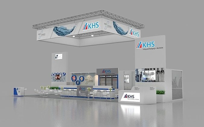 D Exhibition Booth Model : Khs d max booth design cgtrader