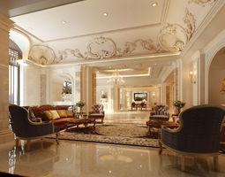 realistic interior design 24 3d model