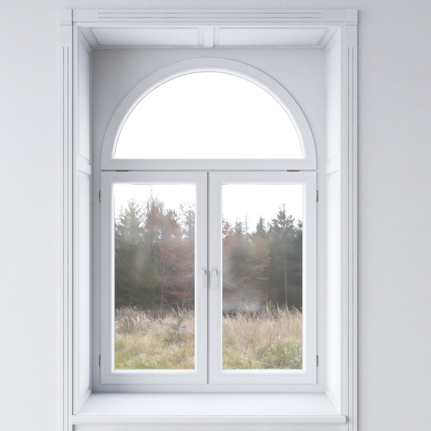 White window 3D model | CGTrader