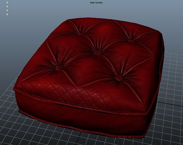 sofa cushion texture 3d model low-poly ma mb tga 1