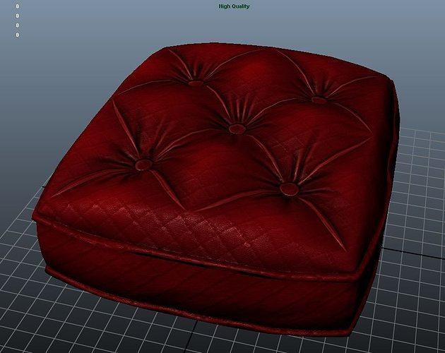 3d Model Sofa Cushion Texture Vr Ar Low Poly Ma Mb Tga