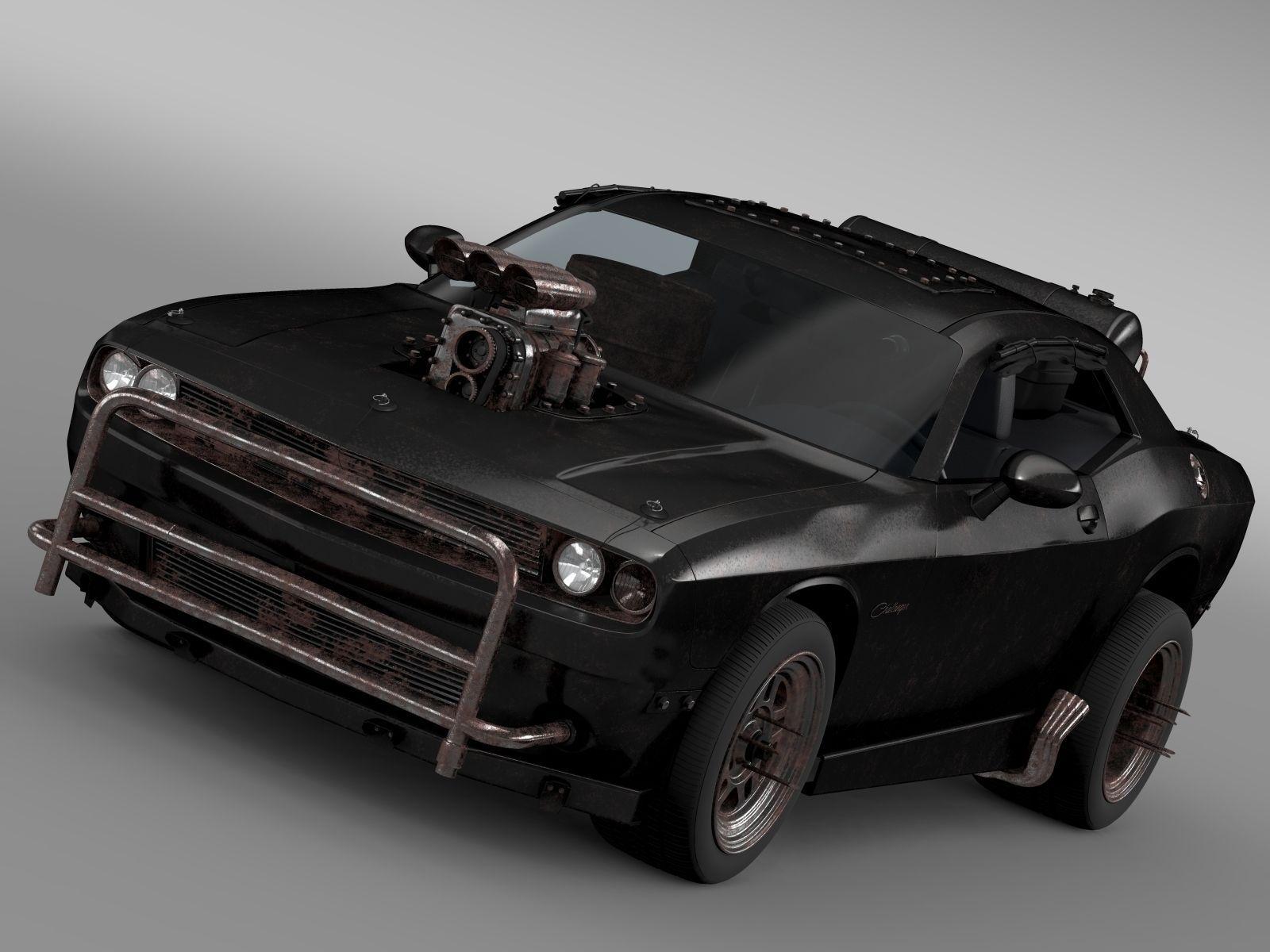 Mad Max Fight Interceptor Dodge Challenger 2015 3d Model Max Obj 3ds Fbx  C4d Lwo Lw ...
