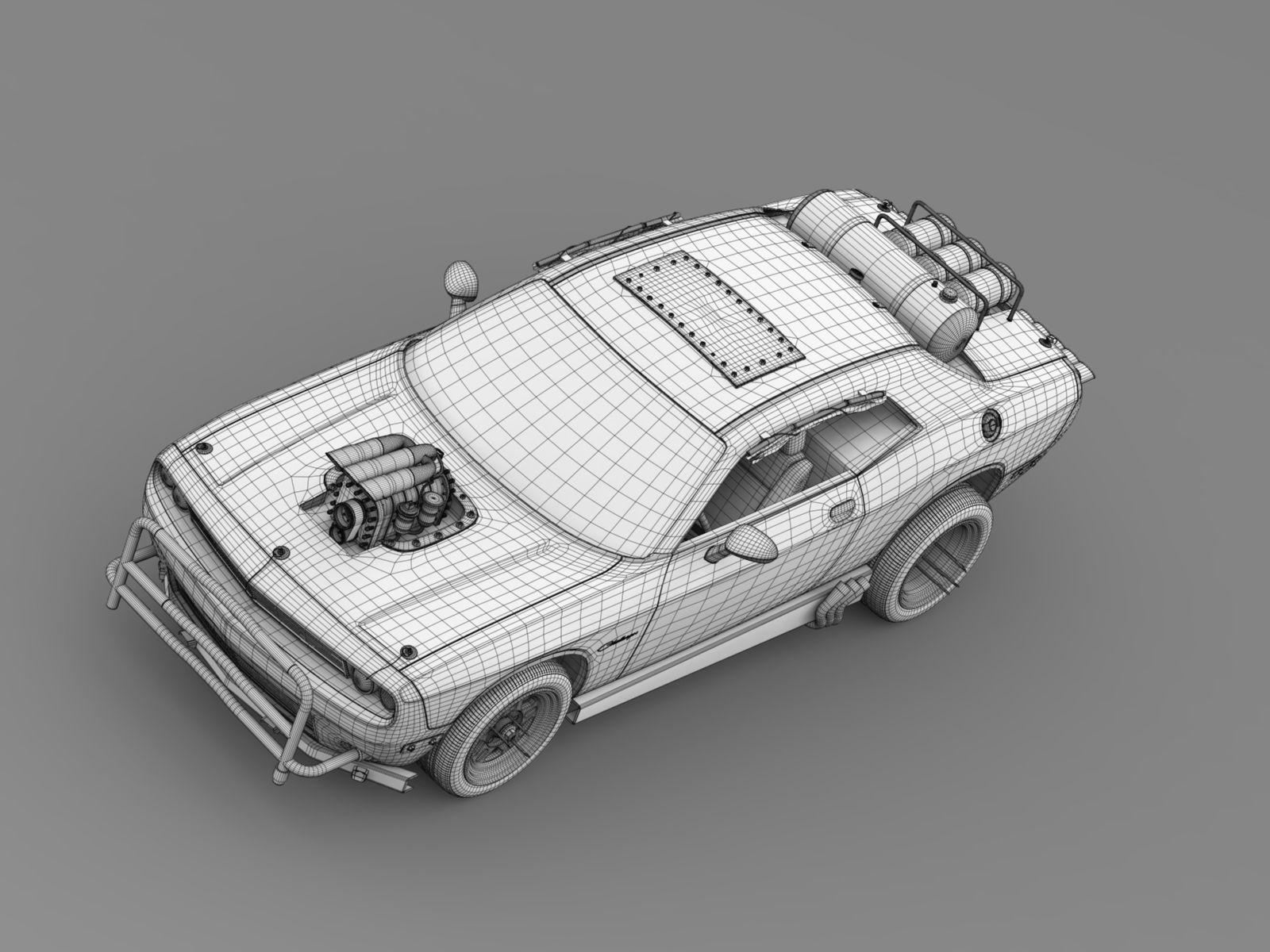 Mad Max Fight Interceptor Dodge Challenger 2015 3d Model Max Obj