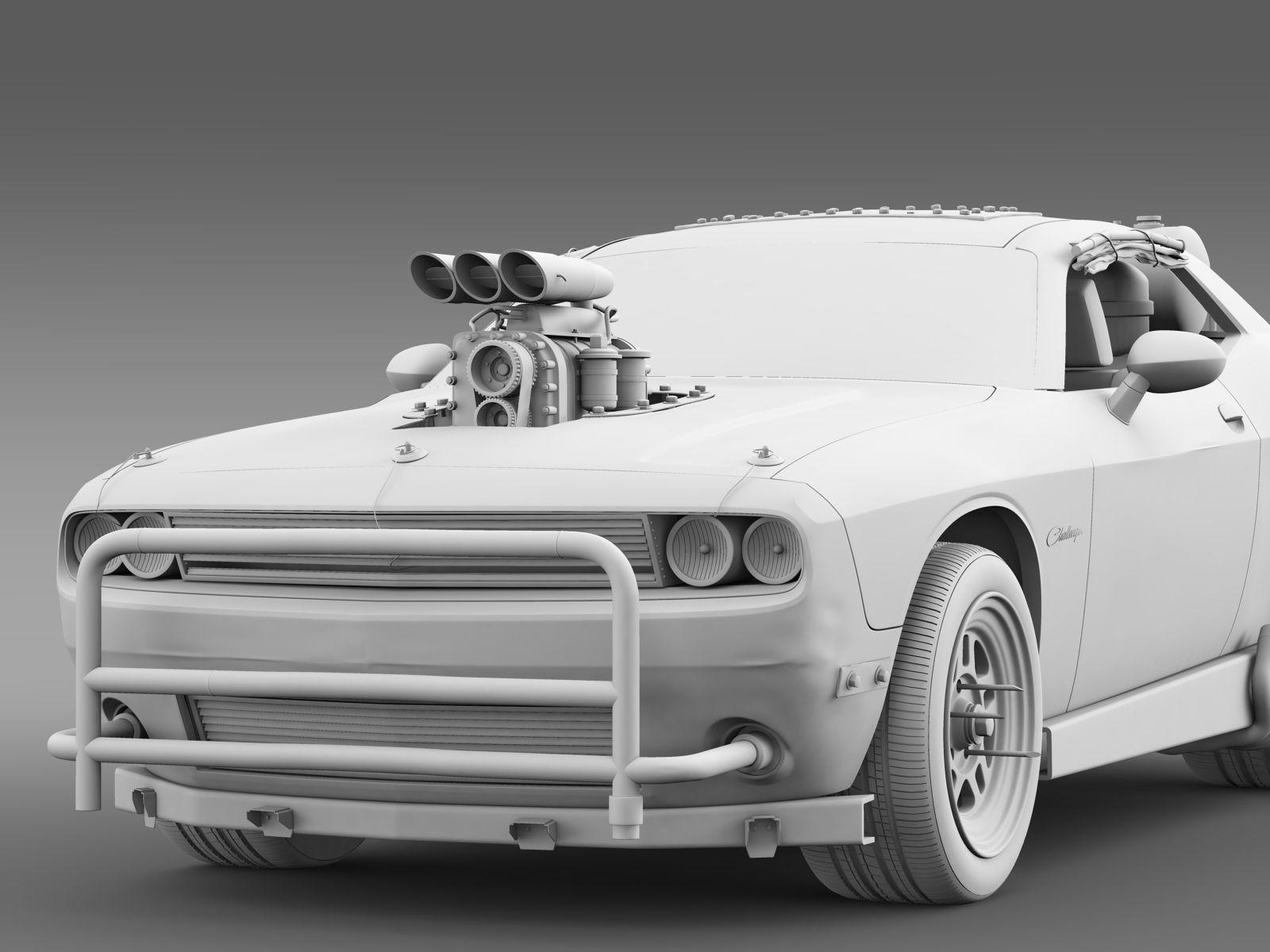Mad Max Fight Interceptor Dodge Challenger 2015 3d Model Obj Mtl Engine Diagram 3ds Fbx C4d Lwo Lw Lws
