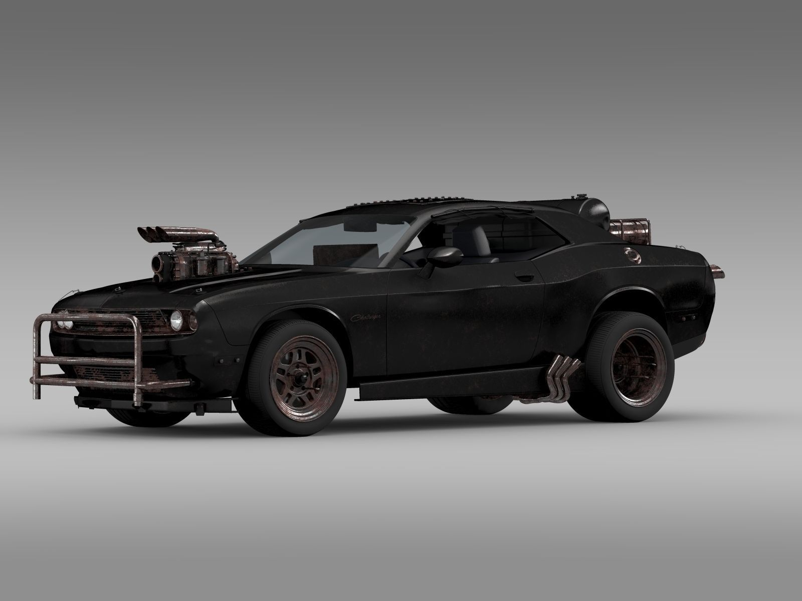 dodge challenger interceptor Mad Max Fight Interceptor Dodge Challenger 3D Model OBJ