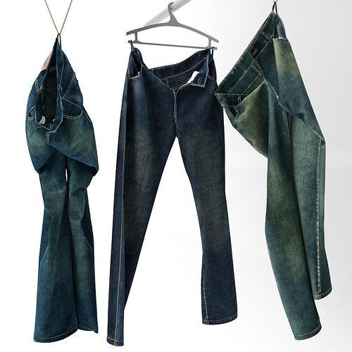 jeans 3d model max obj mtl fbx 1