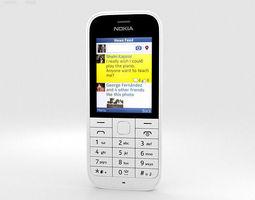 3D Nokia 220 White